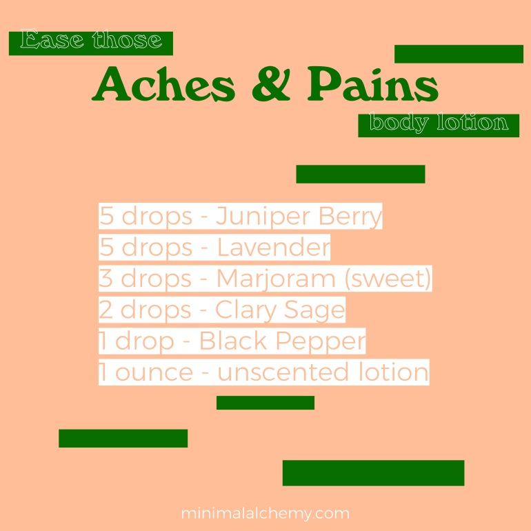 DIY Aches and Pains Lotion
